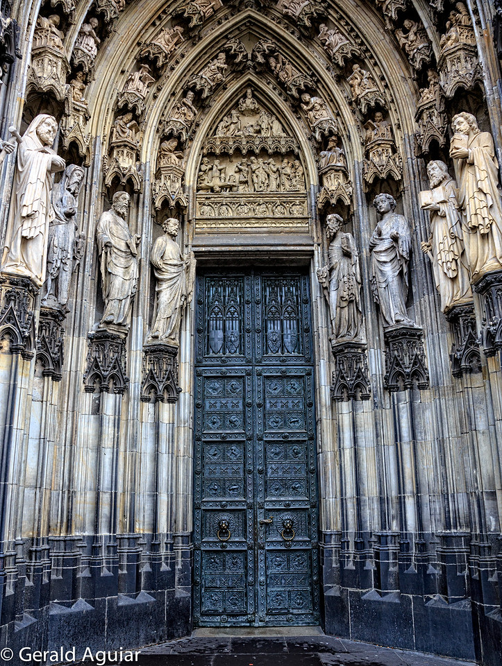 A doorway leading into the Cathedral
