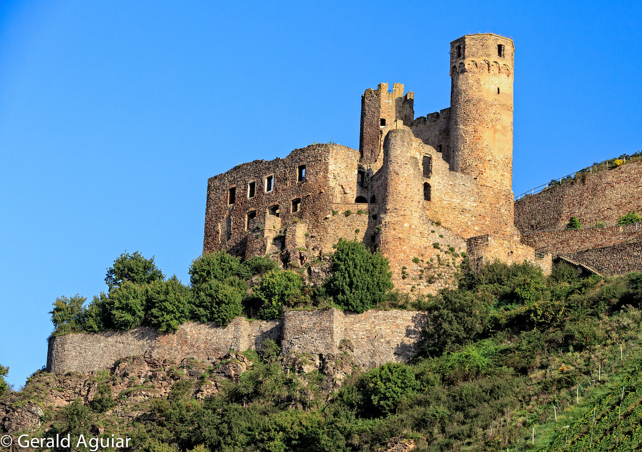 Ehrenfels Castle on the Middle Rhine River