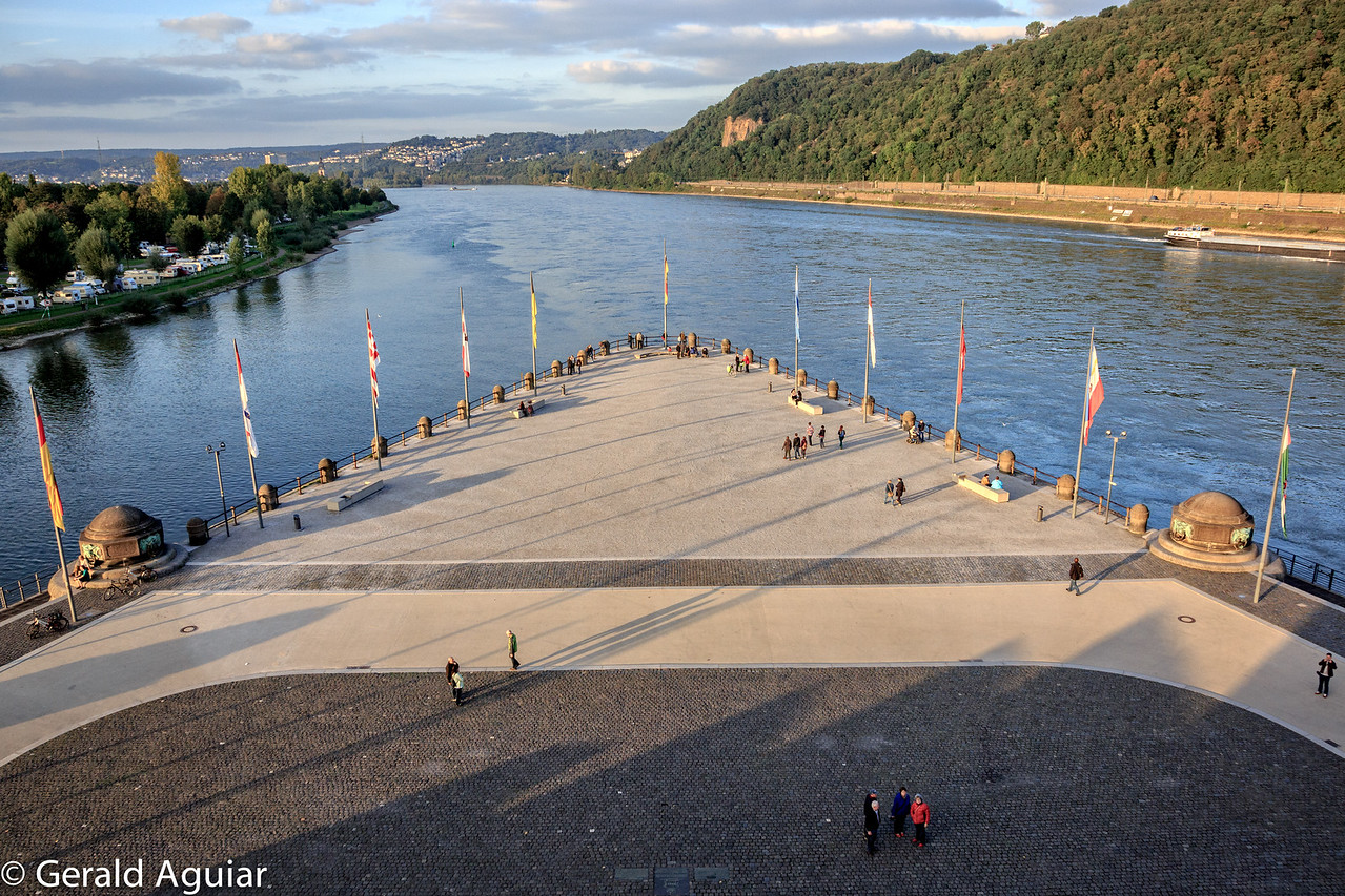 Rhine and Moselle Rivers meeting point in Koblenz
