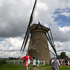 The windmills only operate when the owner is at home. This one was open as a museum. As it was very windy, the huge blades were moving frighteningly fast!