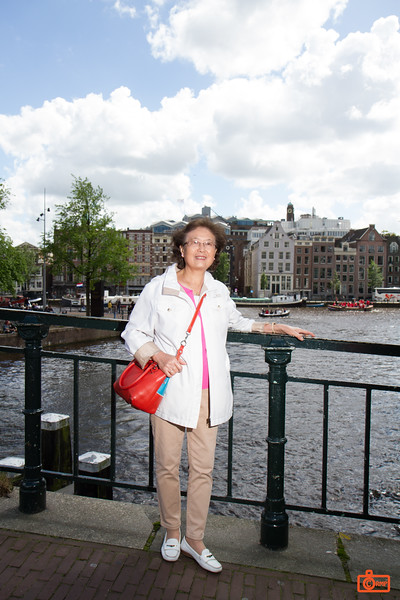 Rosa's mother in Amsterdam. We just finished browsing one of the markets.