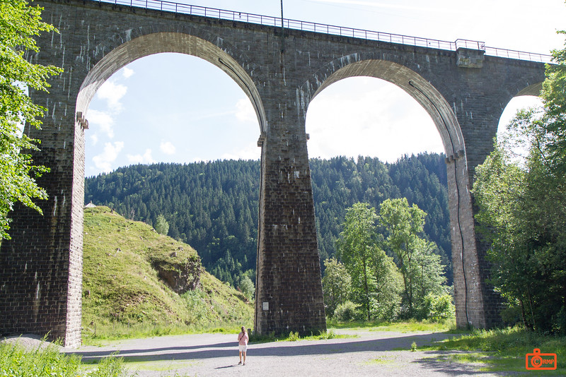 The Ravenna Bridge is a 58 metre tall viaduct for a local railroad through the Black Forest. This bridge replaced the original one in 1926, but had to be rebuilt post-World War II after the German's demolished it late in the war.