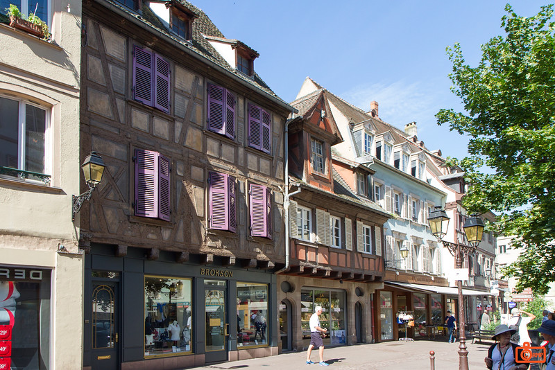 The town of Colmar is in the area of Alsace region, which was disputed territory between France and Germany during the two World Wars.