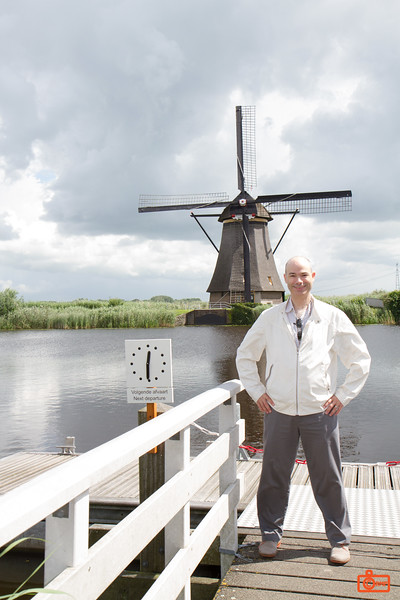 Richard at a windmill. The windmills of Kinderdijk were constructed between 1738 and 1740.