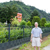 Richard with Marksburg Castle in the background. The castle construction started around 1100.