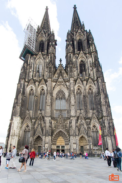 The Cologne Cathedral is the tallest twin-spire church in the world - 157m / 515ft.
