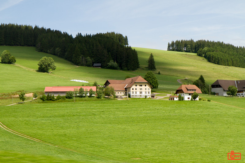 The picturesque mountainous region of the Black Forest.