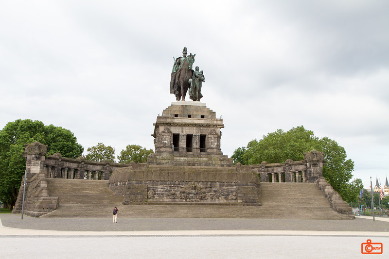 At the confluence of the Rhine and Moselle Rivers stands this 37m tall statue of William I, the first German Emperor. This is a replicate of the original which was destroyed in WWII.