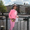 Rosa in Amsterdam. We just finished browsing one of the markets.