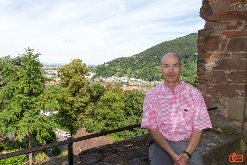 Richard at Heidelberg Castle. The earliest part of the castle was built before 1214, and expanded, destroyed, and rebuilt many times over the centuries.