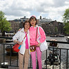 Rosa and her mother in Amsterdam. We just finished browsing one of the markets.
