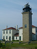 Beavertail Light on Conanicut Island : Beavertail light is perched South of Jamestown on the very point of Conanicut Island in the Narragansett Bay.