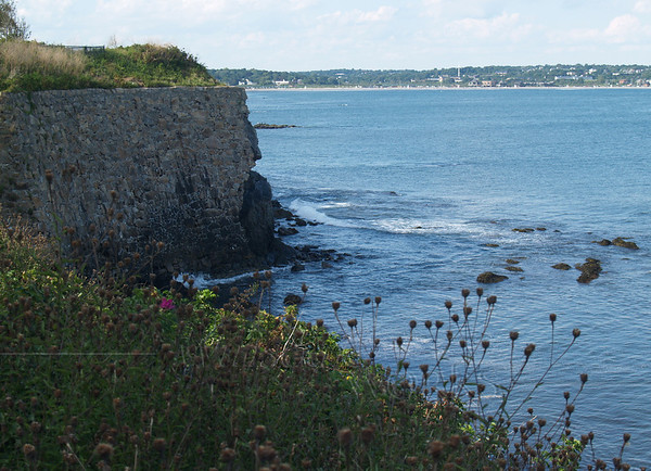 Scene along the Cliff Walk, Newport