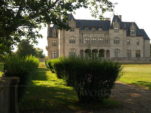 Goelet Mansion or Ochre Court along the Cliff Walk in Newport