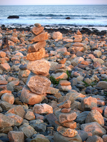 Cairns at Point Judith Light