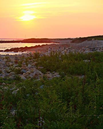 Near dusk at Point Judith Light, RI  [4x5 crop]