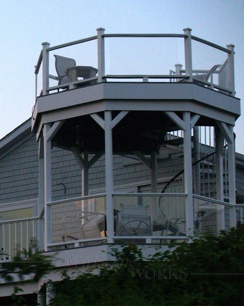 Detail of house near Point Judith Light