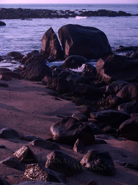 Sunrise at Weekapaug Beach - Boulders at Low Tide