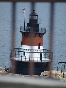 Plum (Rhode Island) Lighthouse from bridge