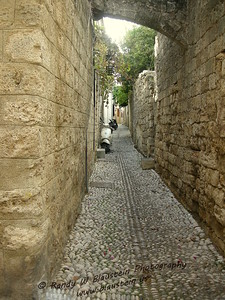 The back streets of Rhodes, Greece