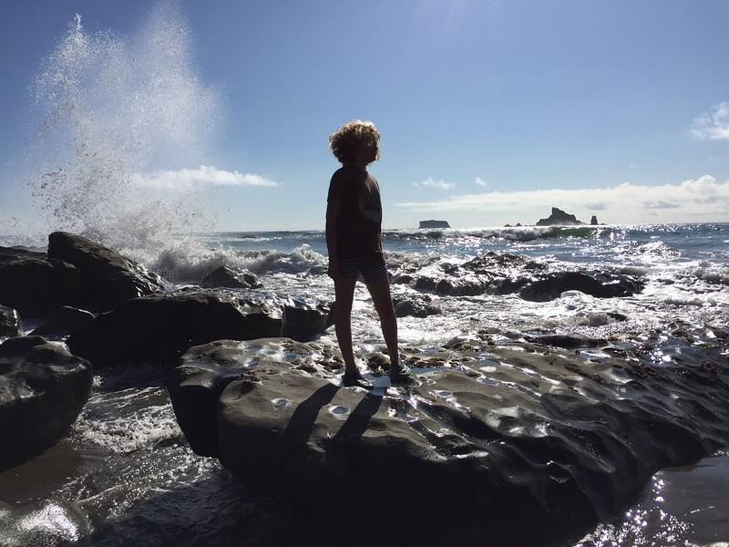 Fun with the crashing waves!