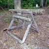Staked log in Petersburg Battlefield in Virginia.