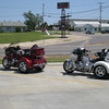 Our rides at a lunch stop in Meeker.