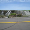 West of Okmulgee on Highway 56 we found this man made waterfall on Lake Okmulgee.