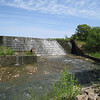 This is a closer view of the waterfall on Lake Okmulgee