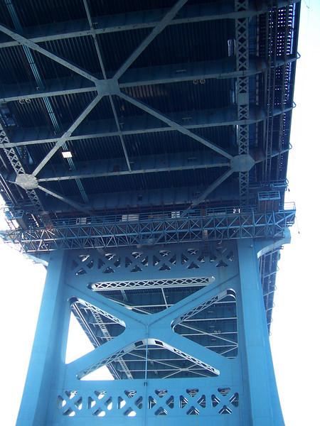 Under the bridge.  Pretty cool.