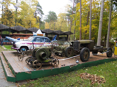 A junkyard, or museum of antique technology? A truly odd institution in Jurmala.