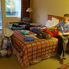 Packing in motel room in Riggins, ID.