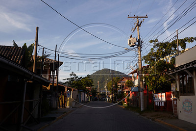 A view of the village of Trinidade, about 20 km from downtown Paraty, Rio state, Brazil, just off the Rio-Santos highway. The 500 plus kilometer road runs along the Atlantic Ocean, passing through, near and around dozens of beaches, waterfalls, mountains and forest. It is arguably of of Brazil's most beautiful roads. (Australfoto/Douglas Engle)