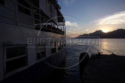 Th ferry arriving from Ilha Grande in Mangaratiba, Rio state, Brazil, just off the Rio-Santos highway. The island makes for a great escape from Rio, but in order to catch the 8am boat to the island, passengers must take a 5am bus from Rio. (Australfoto/Douglas Engle)