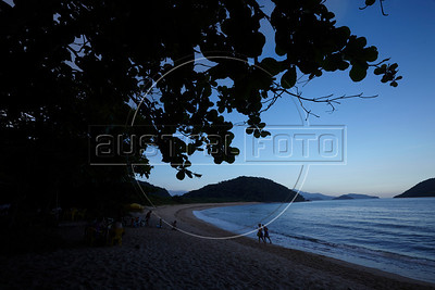 A view of the beach in Prumirmim, in the municipality of Ubatuba, São Paulo state, Brazil, just off the Rio-Santos highway. The 500 plus kilometer road runs along the Atlantic Ocean, passing through, near and around dozens of beaches, waterfalls, mountains and forest. It is arguably of of Brazil's most beautiful roads. (Australfoto/Douglas Engle)