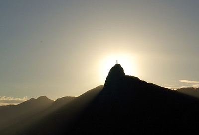 Corcavado Hill with Statue of Christ