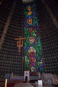 Stained Glass Wall and Altar
