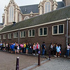 The line to see Anne Frank's house