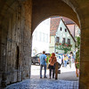 Entering through one of the town gates