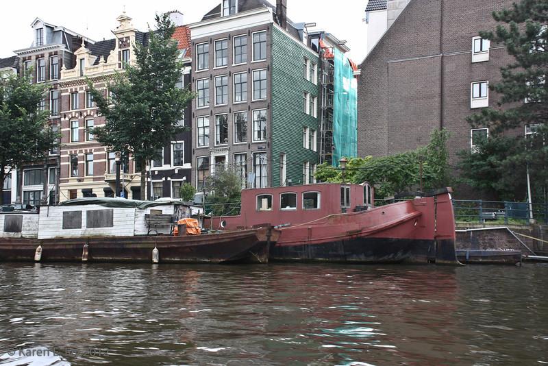 canal - houseboats, houses