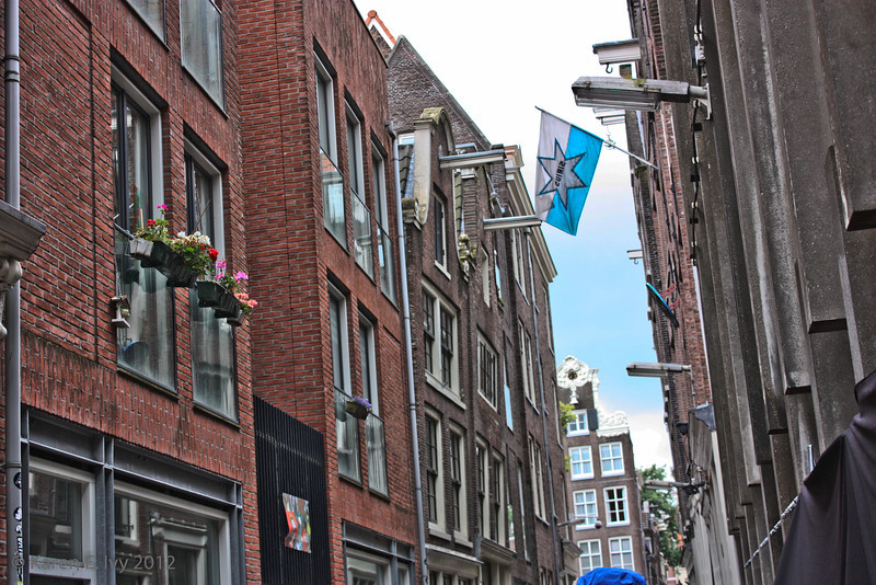 Amsterdam houses - see how they lean?