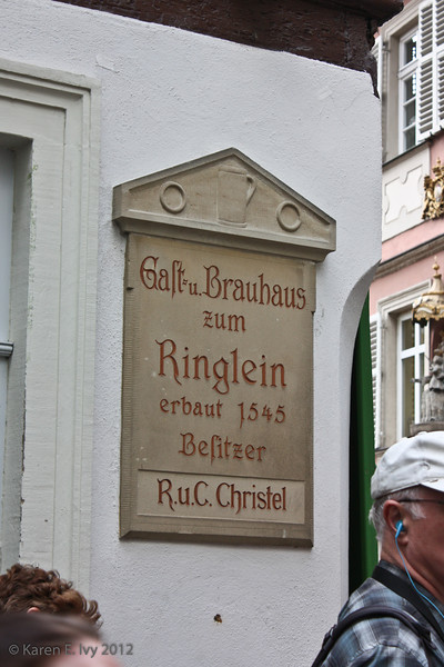 Guest house and Brewery zum Ringlein established in 1545