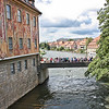 Altes Rathaus (old city hall) - yes, on an island in the Regnitz.  That is the Untere Brücke (Lower Bridge) crossing the river.
