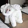 A towel elephant in our cabin