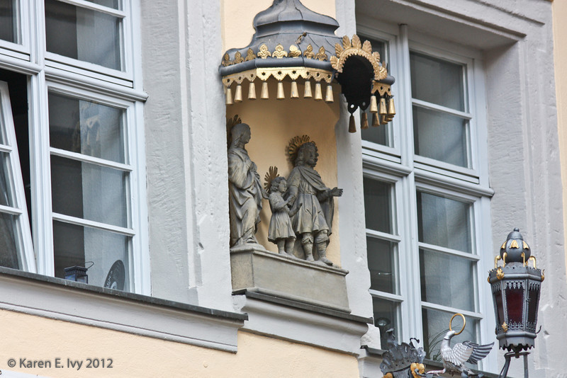 Religious figures on a building