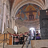 Second choir, rehearsing in an apse