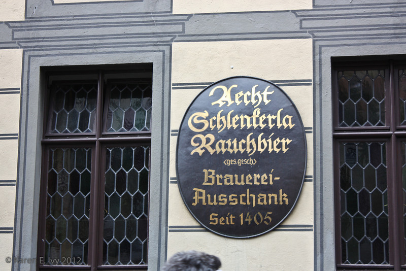 "Brauereiausschank is a former brewery, now a pub, serving ""Schlenkerla Rauchbier"" - smoked lager"