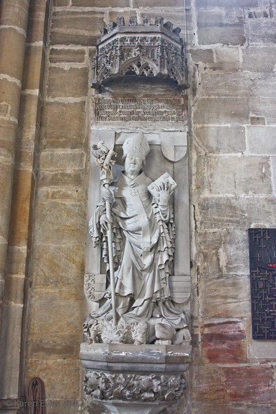 Statue of a bishop, Bamberger Dom - very baroque