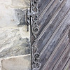 Metalwork on a door
