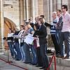 First choir, rehearsing